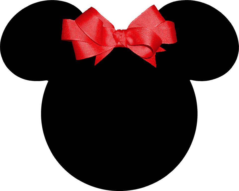 Siluetas de la cabeza de Minnie. | Ideas y material gratis para ...